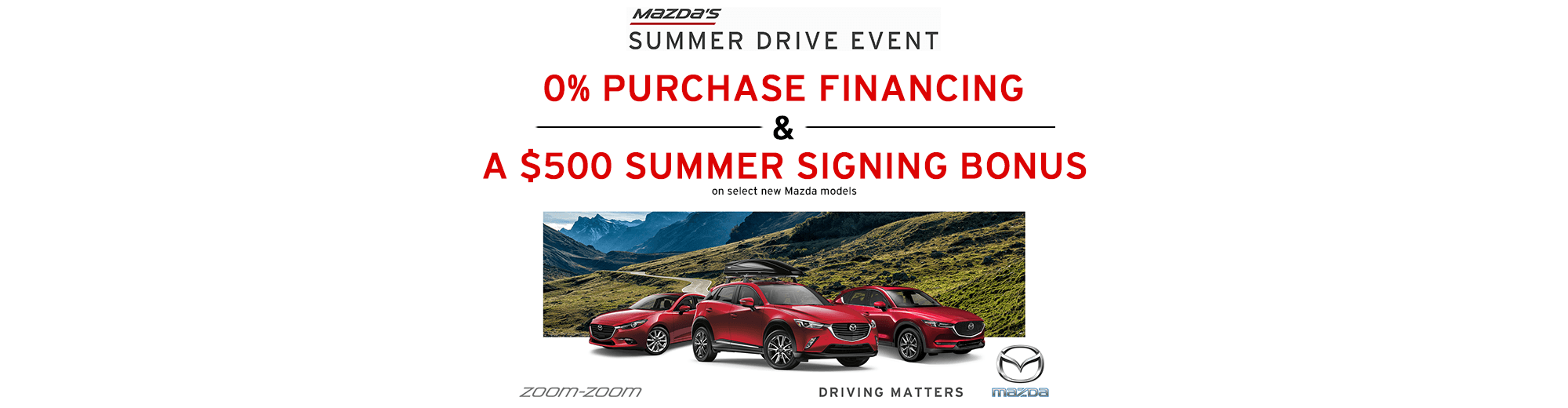 Mazda's Summer Drive Event on Now!