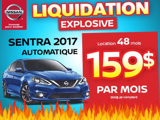 Méga liquidation Sentra 2017