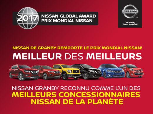 Nissan de Granby remporte le prix mondial Nissan!