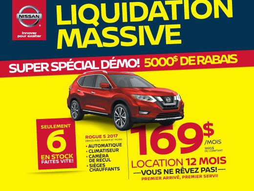 Liquidation massive Rogue S démo