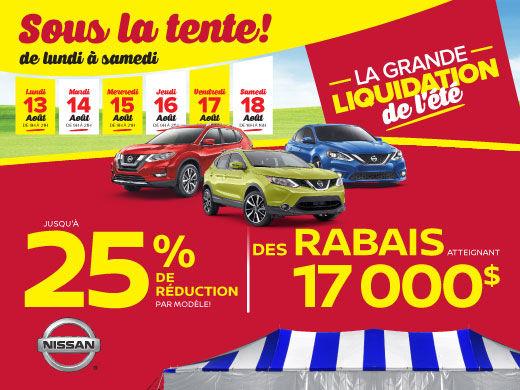 La Grande Liquidation de L'Été chez Nissan!