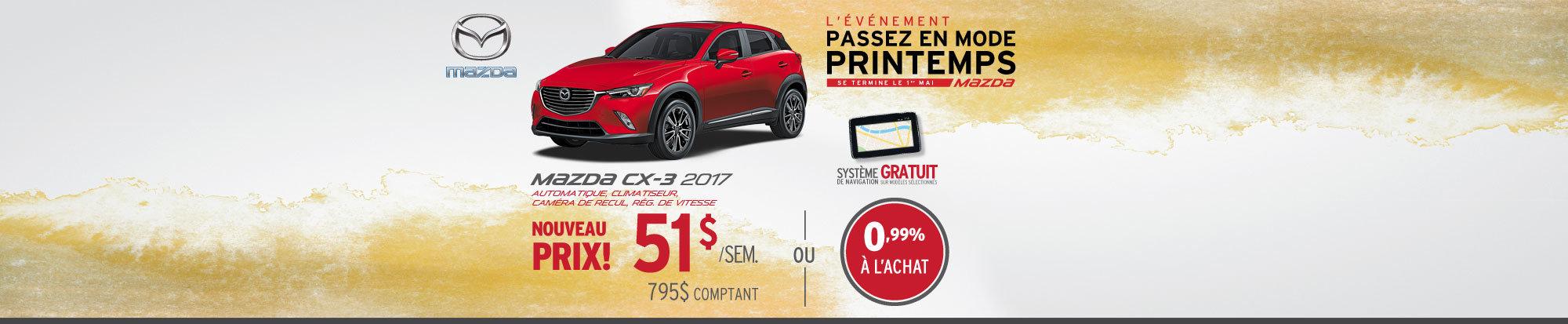 Location Mazda CX-3 2017