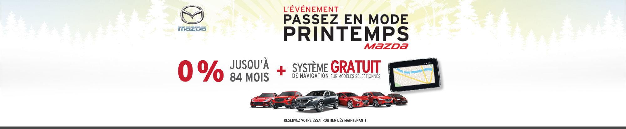 Passez en mode printemps avec Mazda!