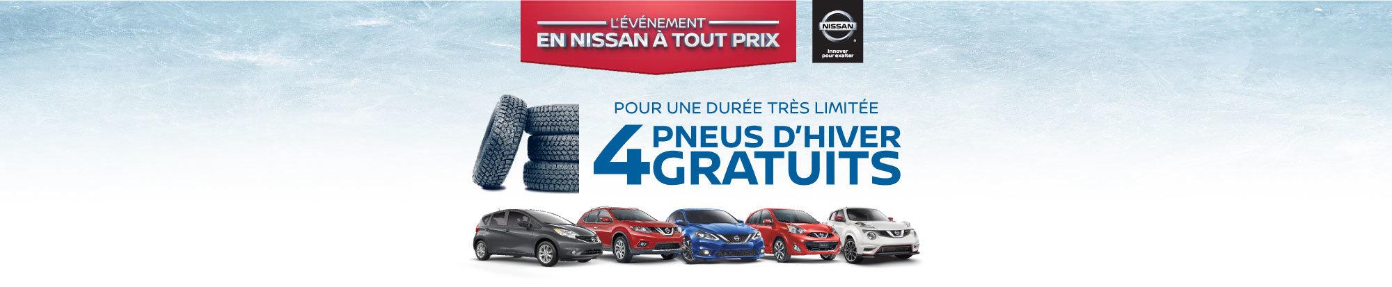 Pneus d'hiver gratuit avec Nissan