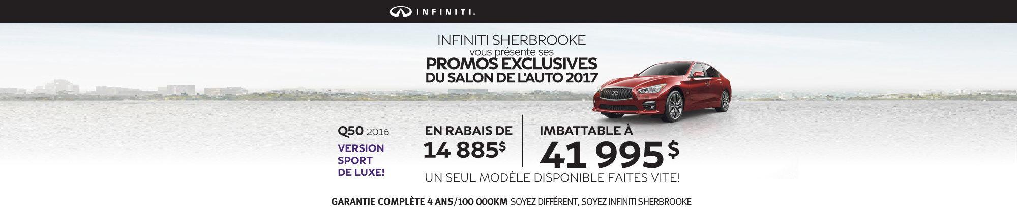 Infiniti Q50 2016 en rabais