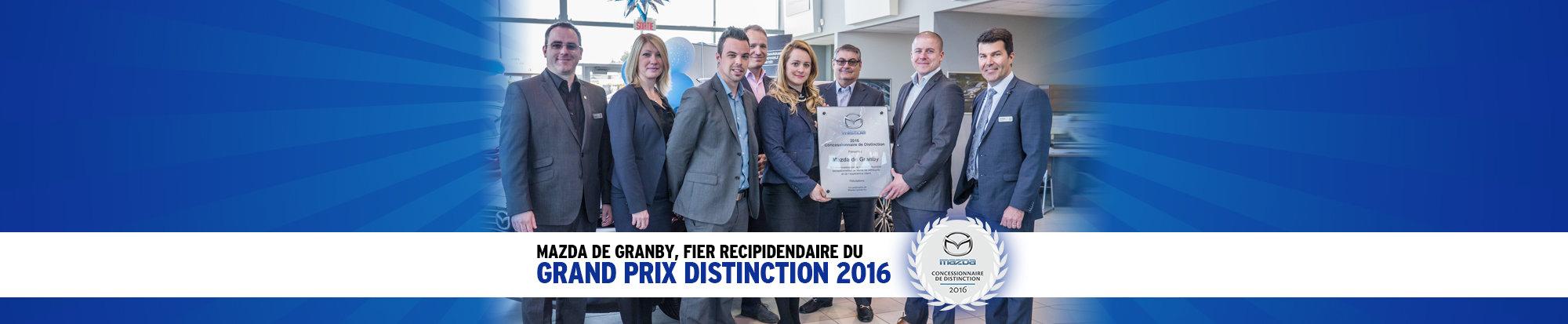 Mazda de Granby, grand prix distinction 2016