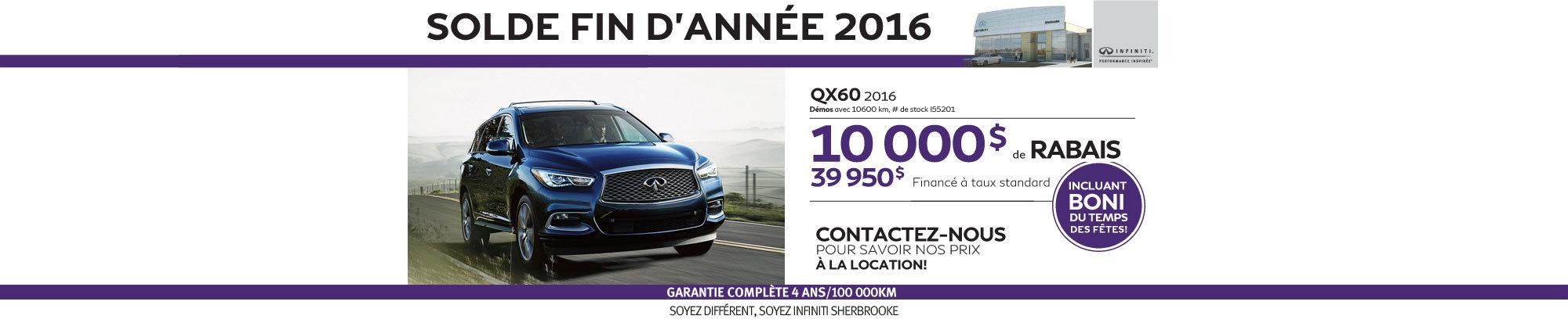 QX60 2016 - Décembre