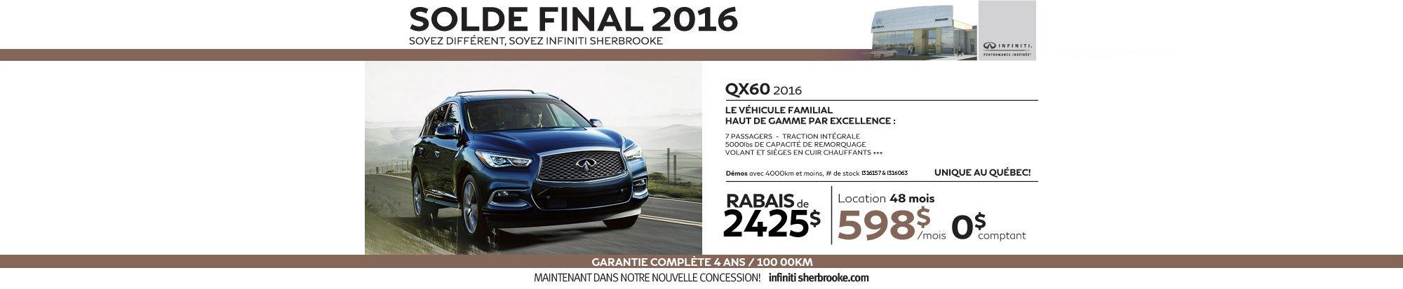 QX60 2016 - Septembre