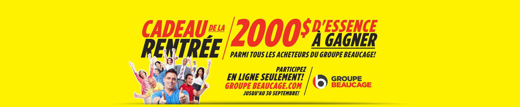 Gagnez 2000$ d'essence