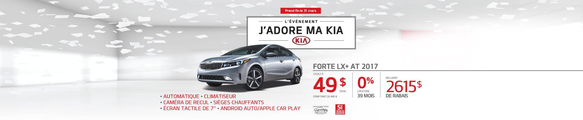 La Kia Forte LX AT 2017