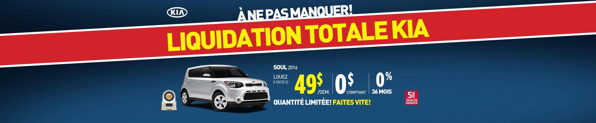 Liquidation de fin d'année: Kia Soul 2016