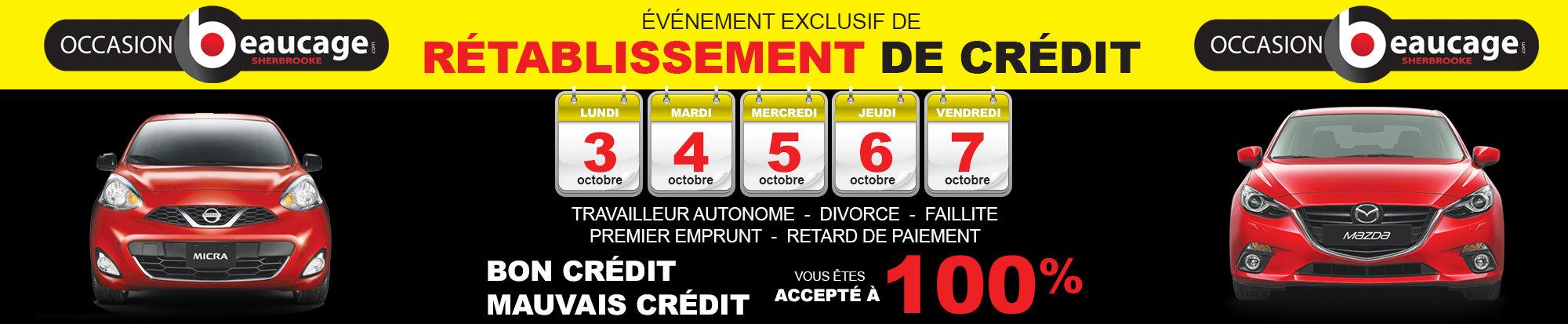 L'événement exclusif de rétablissement de crédit