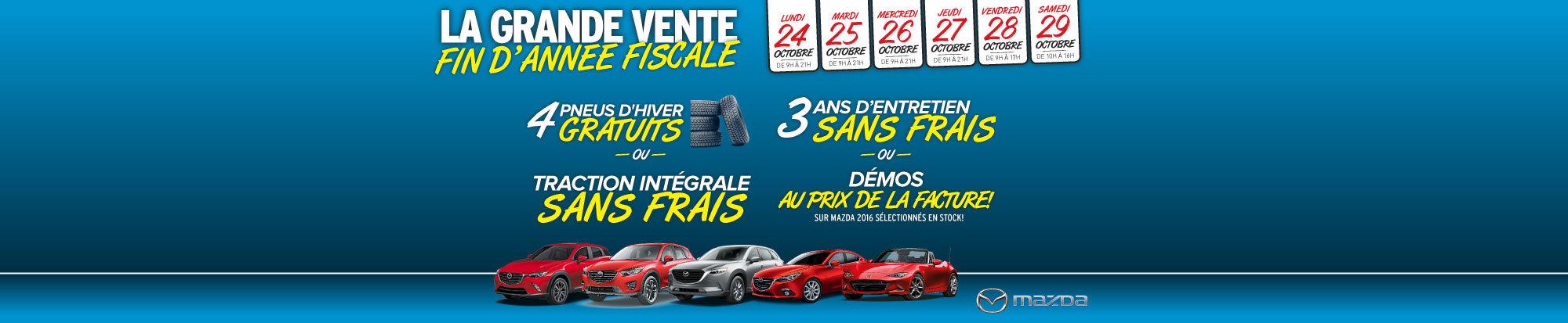 Grande vente d'année fiscale chez Mazda