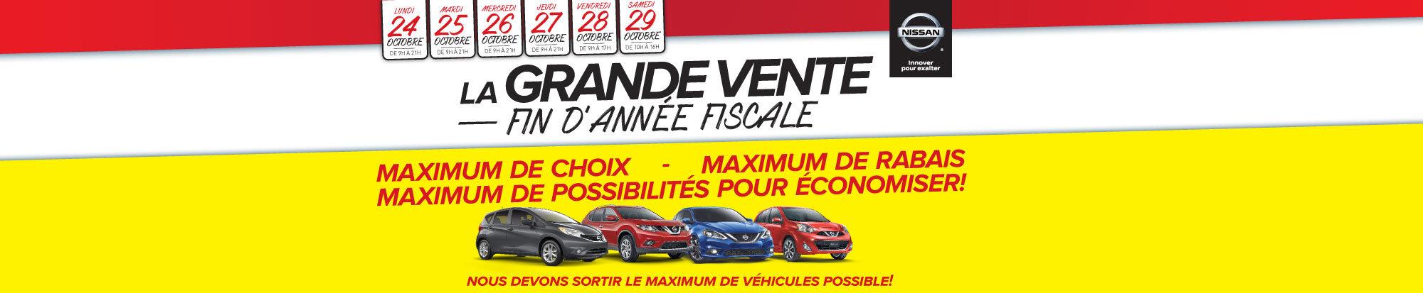 Vente de fin d'année fiscale chez Nissan