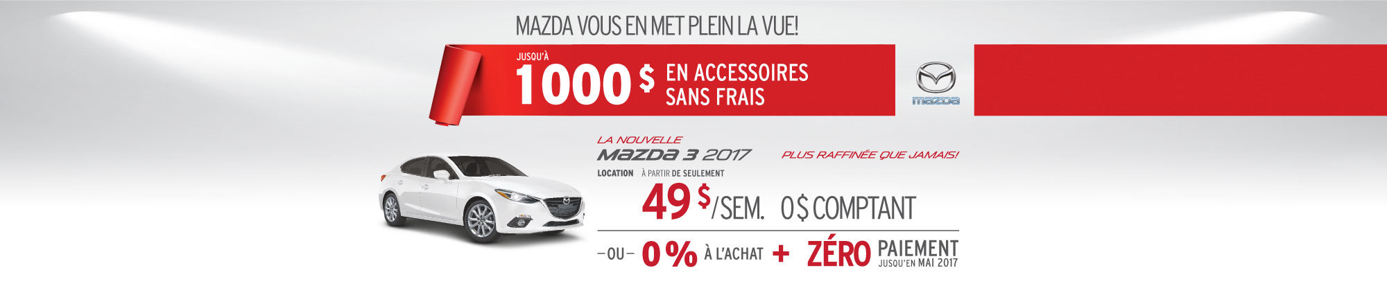 Louez la Mazda3 2017