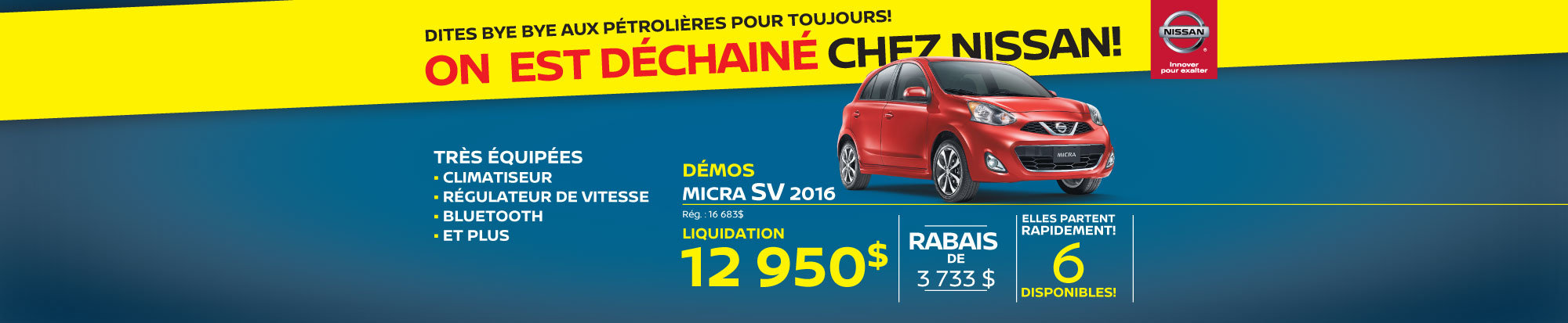 La Nissan Micra SV 2017 Granby