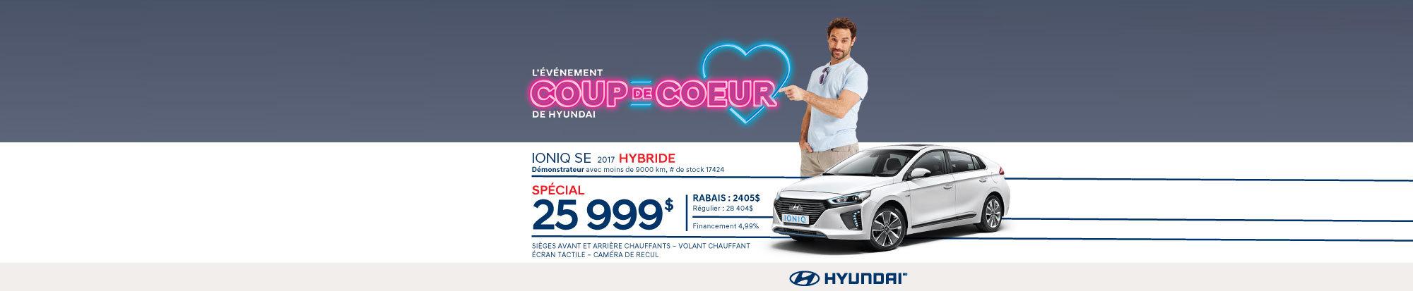 HYUNDAI Ioniq SE Hybride 2017 démo web