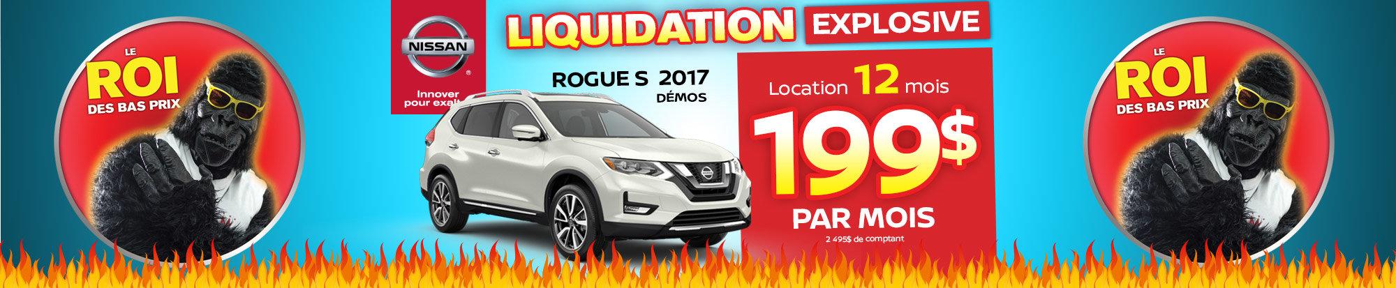 Méga liquidation Rogue demo 2017 web