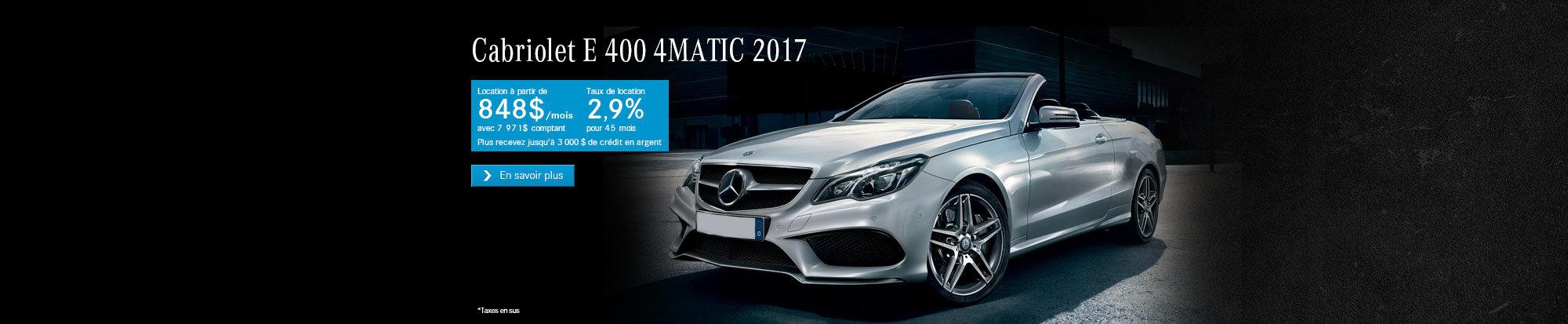 E 400 Cabriolet 2017