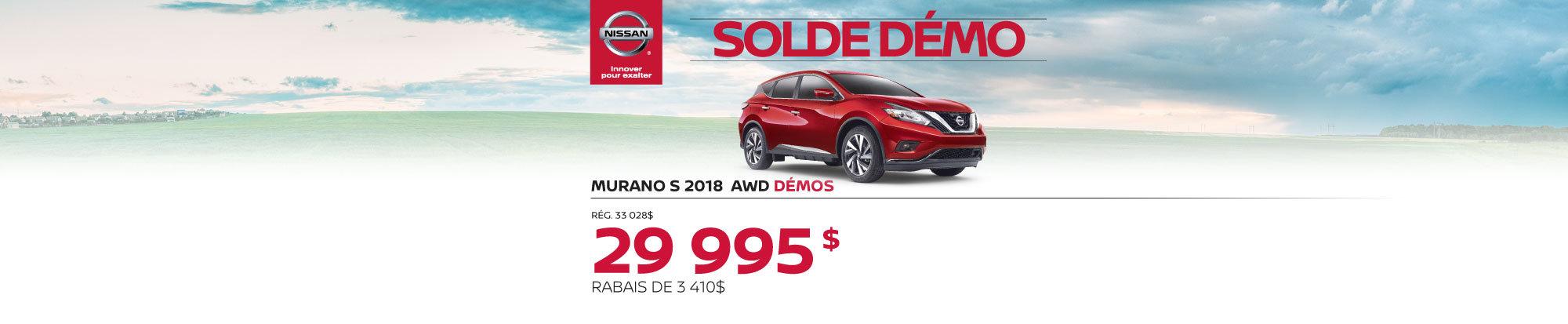 Nissan Murano Démo 2018 web