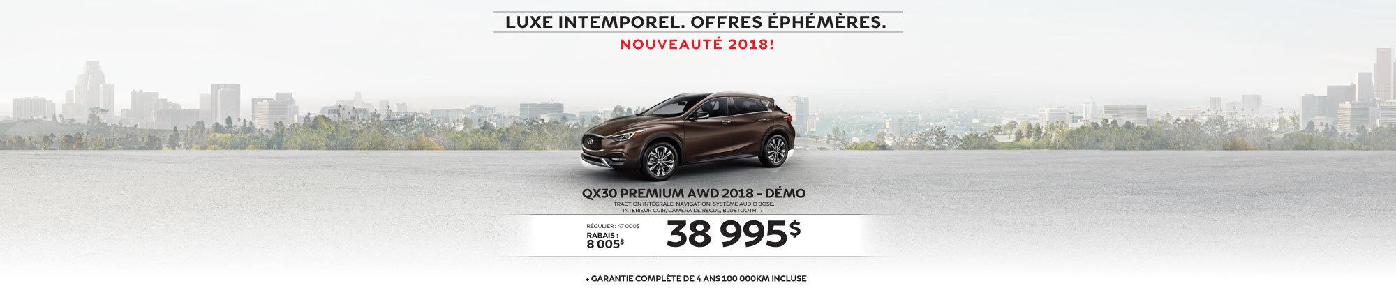 Le tout nouveau QX30 PREMIUM AWD 2018 démo web