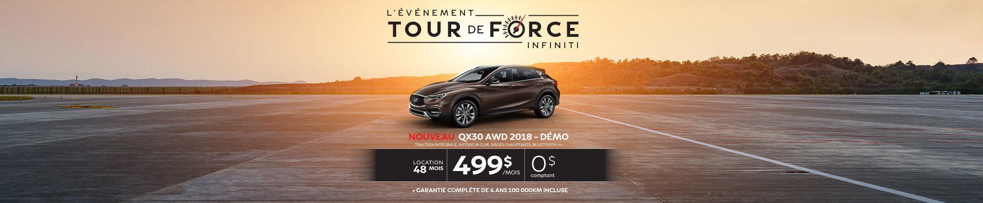 Le tout nouveau QX30 AWD 2018 démo web
