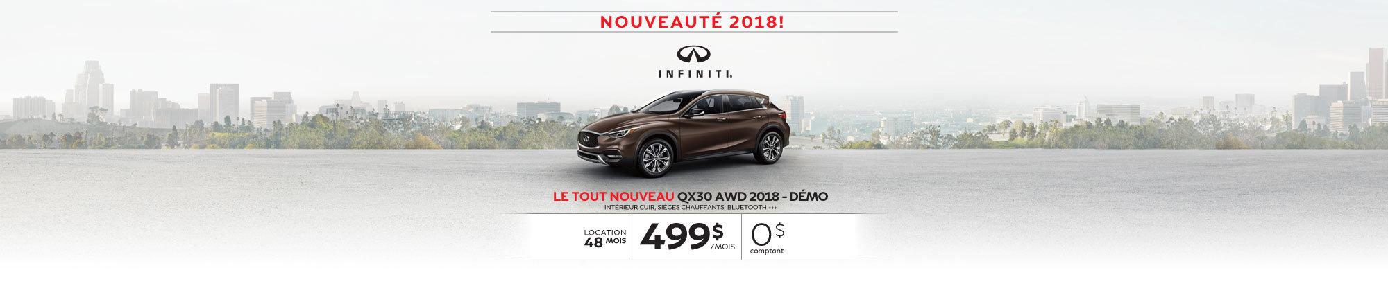 Le tout nouveau QX30 FWD 2018 démo web
