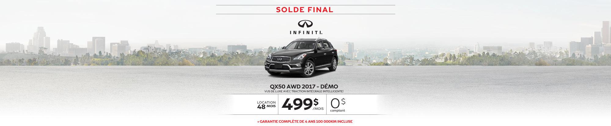 SOLDE FINAL QX50 AWD 2017 - Démo web