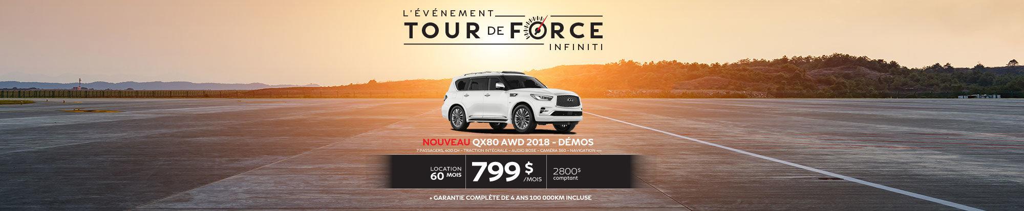 NOUVEAUTÉ 2018! QX80 AWD 2018 démo web