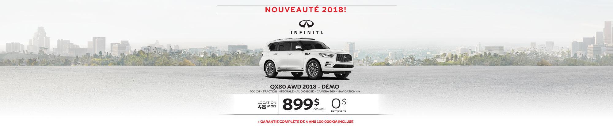 QX80 AWD 2018 démo web