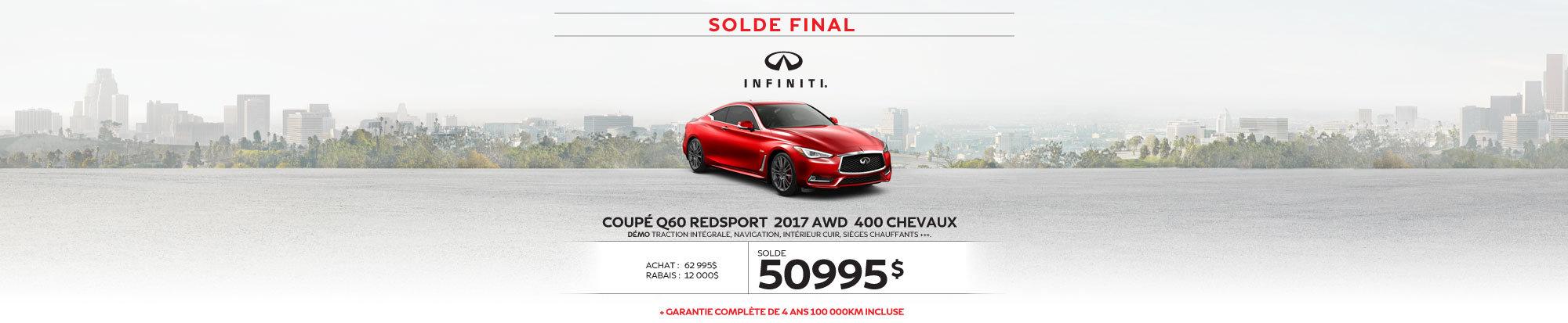 COUPÉ Q60 REDSPORT 2017 AWD démos dernier appel … pour le solde 2017! web