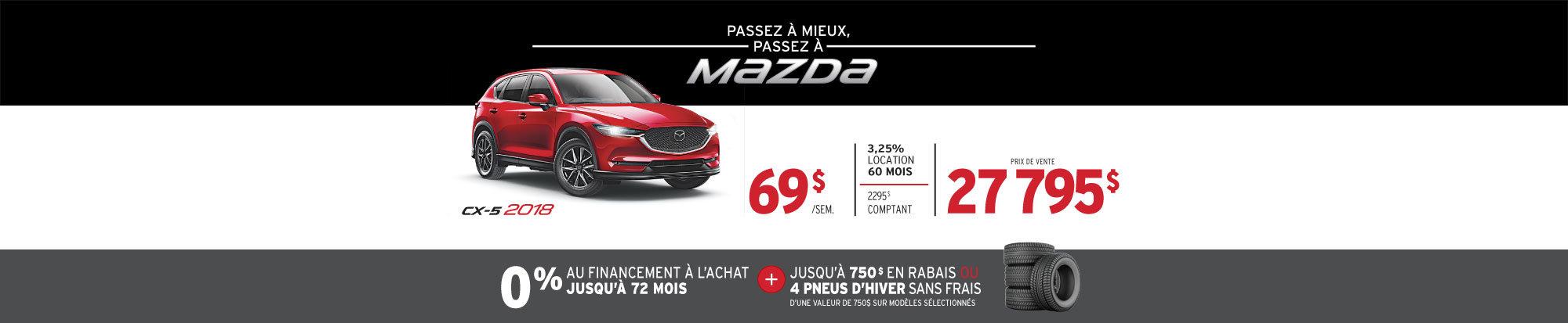PASSEZ À MIEUX – PASSEZ AU GROUPE BEAUCAGE MAZDA avec le MAZDA CX-5 2018 web