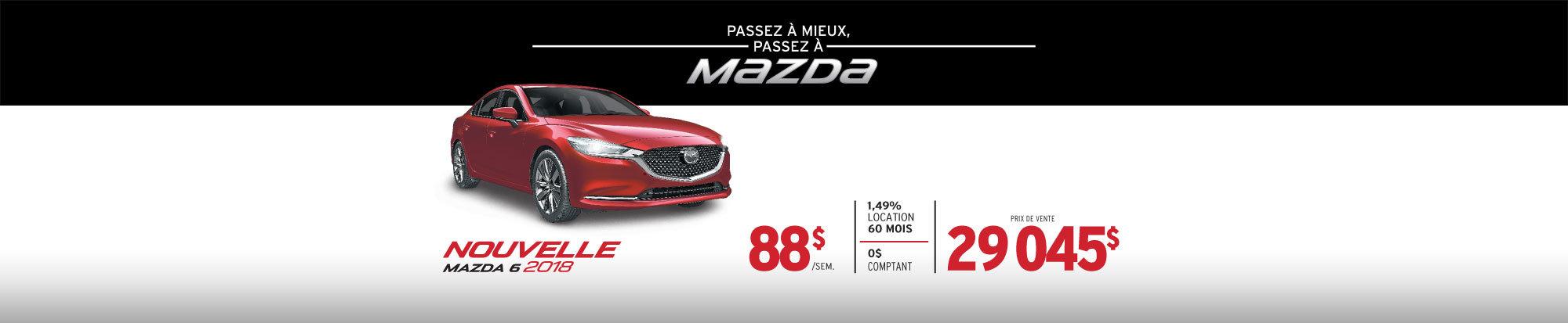 PASSEZ À MIEUX – PASSEZ AU GROUPE BEAUCAGE MAZDA avec la Mazda6 2018 web