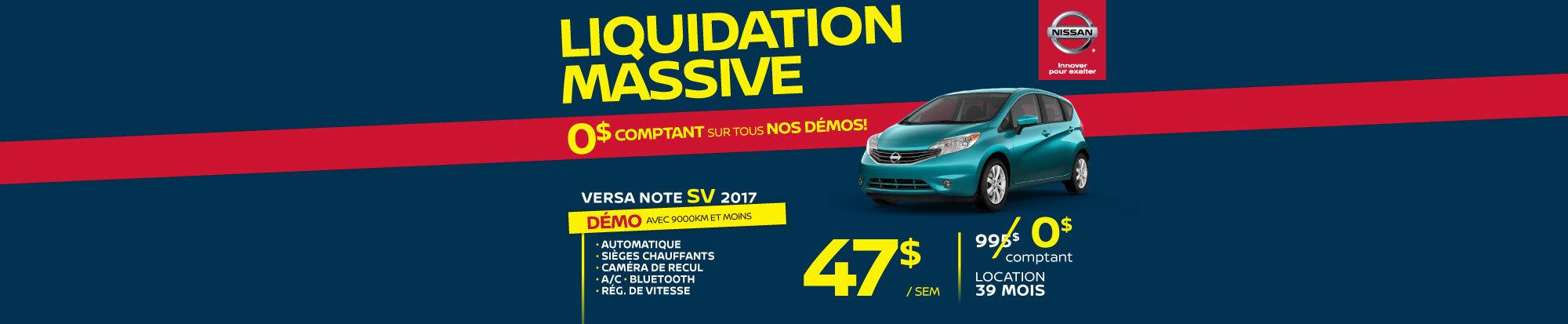 Liquidation massive Versa Note SV web