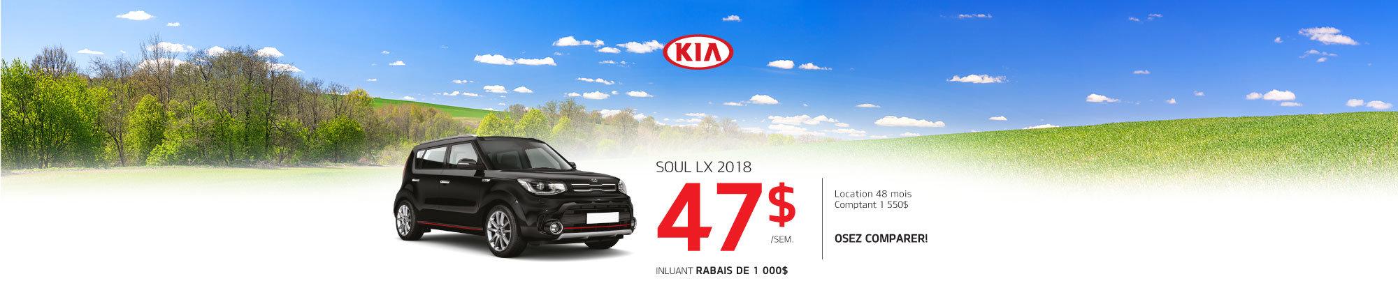 Soul LX 2018 à prix incroyable! web