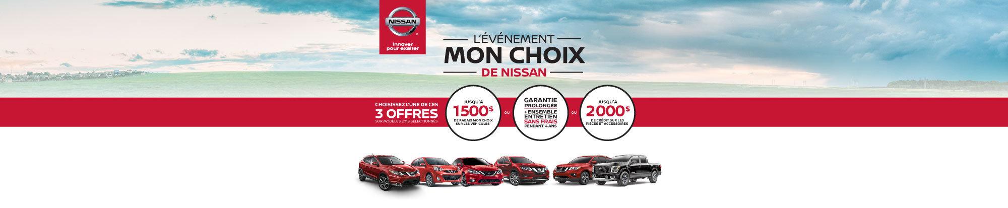 L'événement MON CHOIX de Nissan bat son plein! web