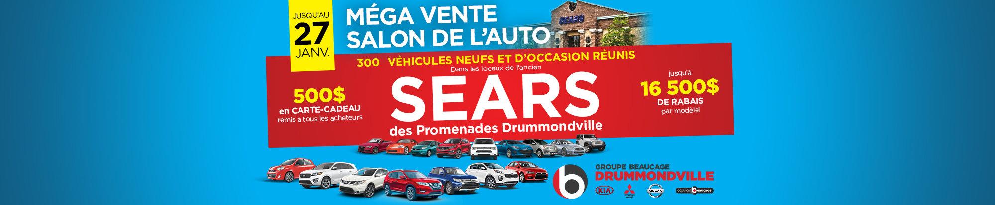Mega vente salon de l'auto web