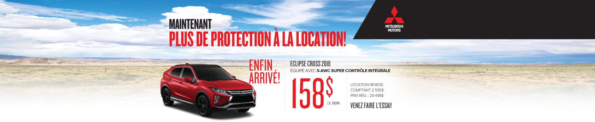 Le 100% nouveau Eclipse Cross 2018 est enfin arrivé chez Mitsubishi! - web