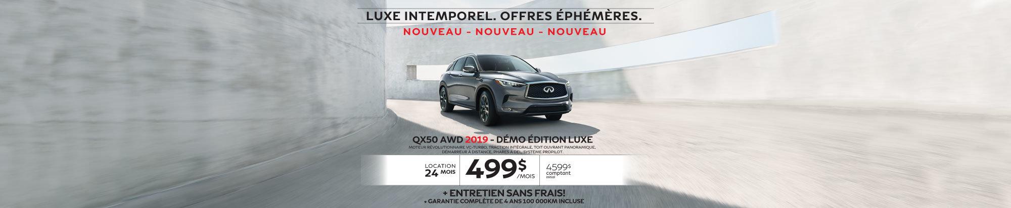 QX50 AWD 2019 Démo édition LUXE web