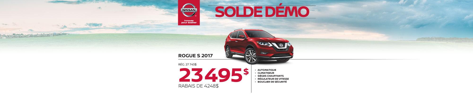Nissan Rogue S 2017 démos web