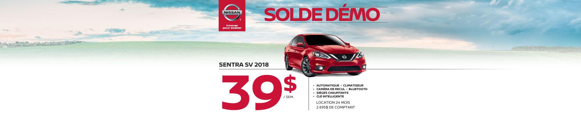 Nissan Sentra 2018 démos web