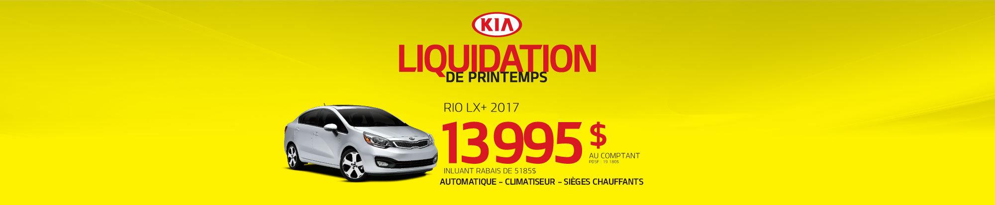 Liquidation de printemps - Rio LX+ - web