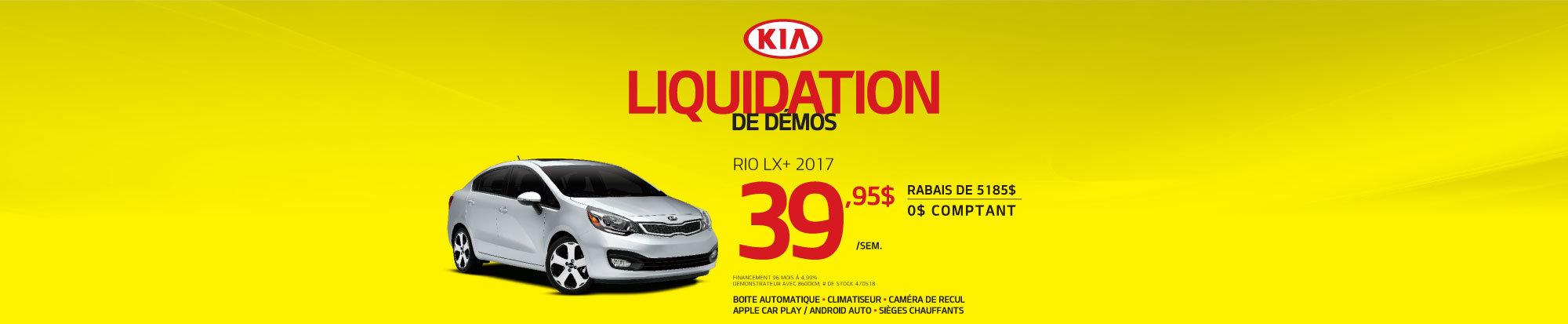 Liquidation de démos - Rio LX+ - web