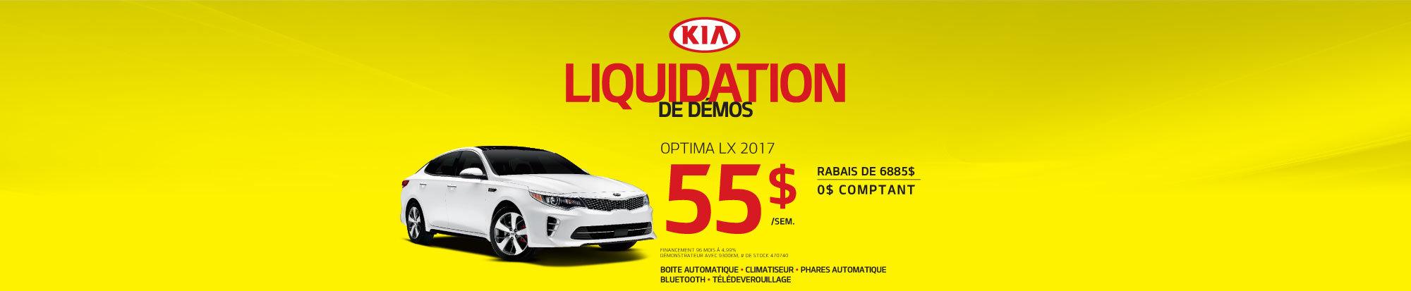 Liquidation de démos - Optima LX- web