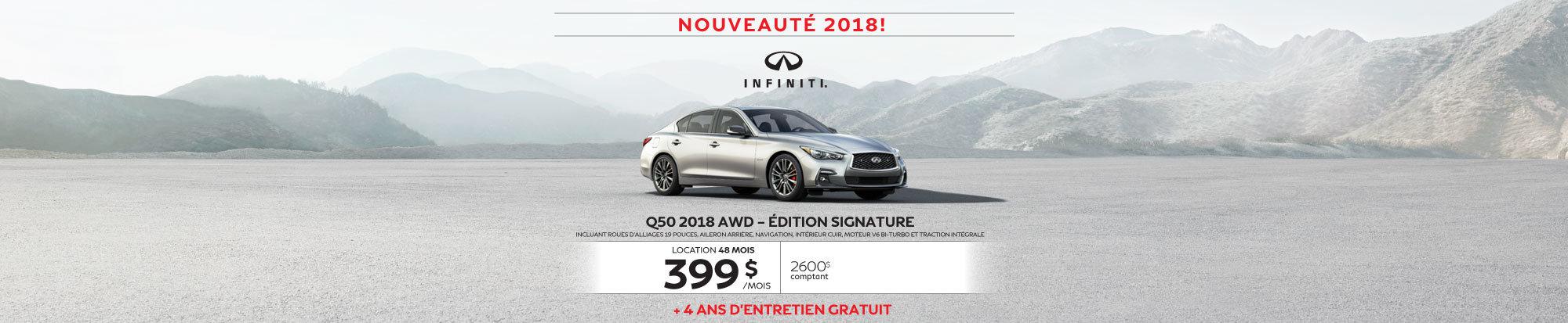Q50 2018 Édition Signature web