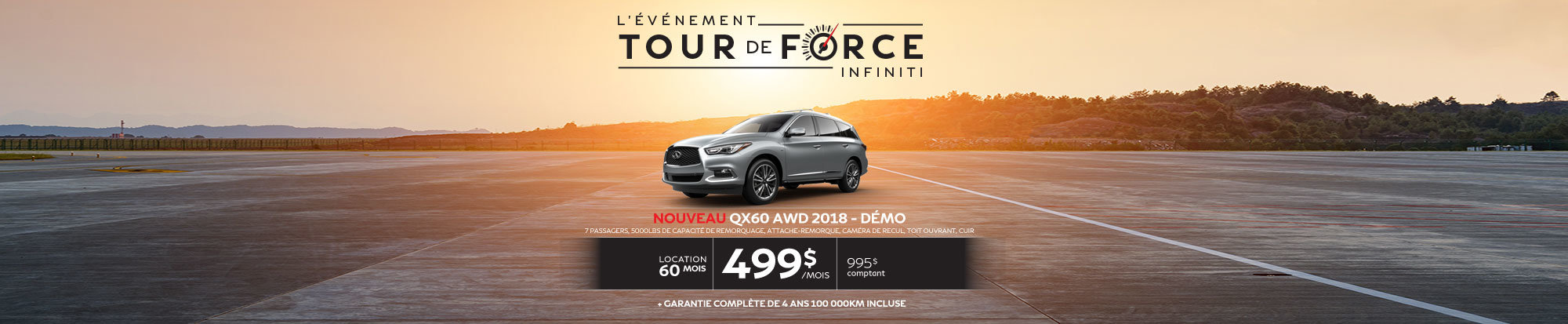 QX60 AWD 2018 Démo web