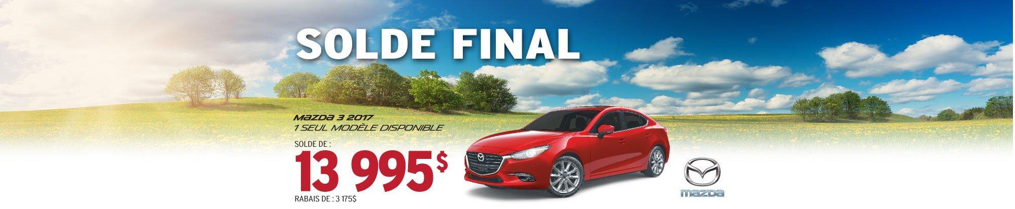 SOLDE FINAL - Mazda 3 2017