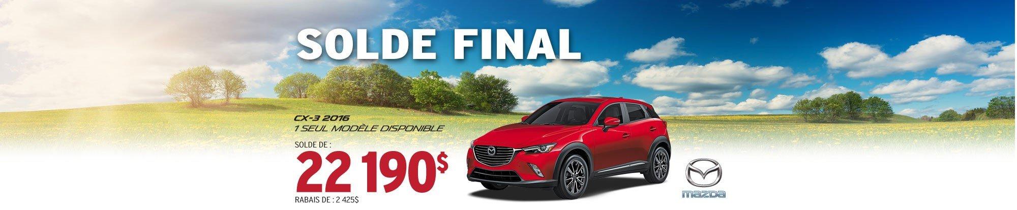 SOLDE FINAL - Mazda CX-3 2016 web