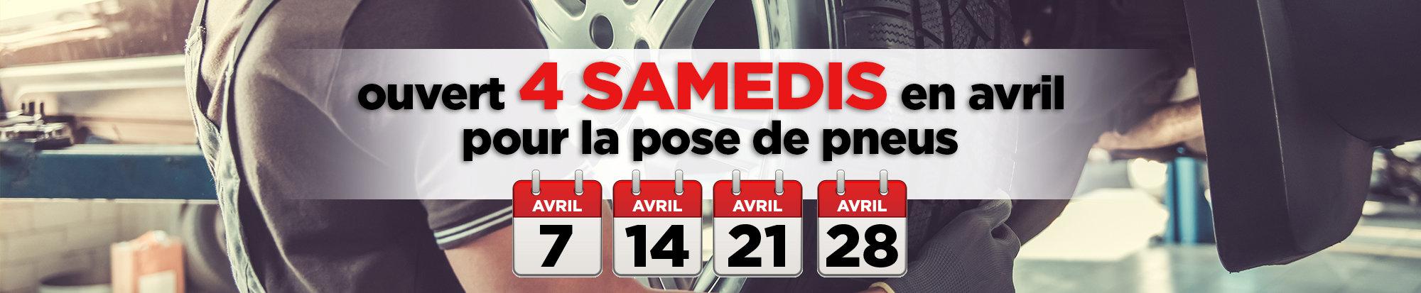 Ouvert 4 samedis en avril pour le changement de pneus! - web