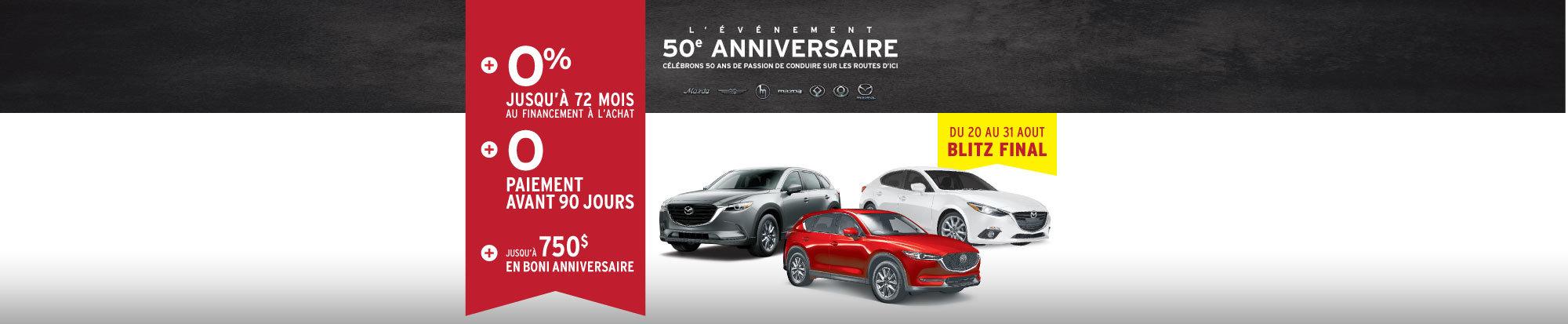L'événement 50e anniversaire Mazda - BLITZ FINAL web
